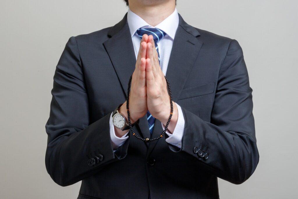 一蓮珠 祈り男性1